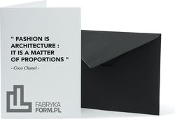 Kartka z kopertą Architects Quotes Fashion Architecture