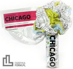 Mapa Crumpled City Chicago