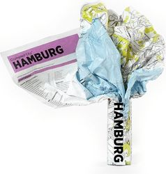 Mapa Crumpled City Hamburg