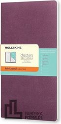 Notes Moleskine Chapters Journal L purpurowy w linie