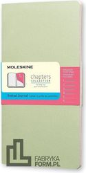 Notes Moleskine Chapters Journal M miętowy w kropki