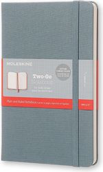 Notes Moleskine Two-Go M stalowy