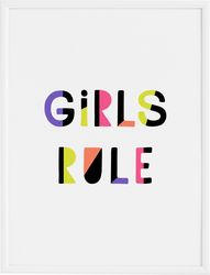 Plakat Girls Rule 30 x 40 cm