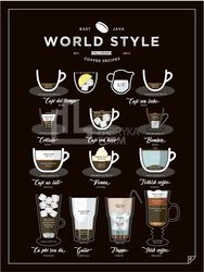 Plakat World Style Coffee 21 x 30 cm