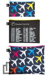 Saszetki Zip Pockets 3 szt. Airport Airplane
