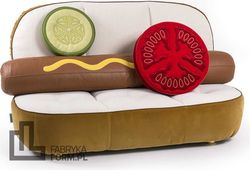 Sofa Hot Dog z poduszkami