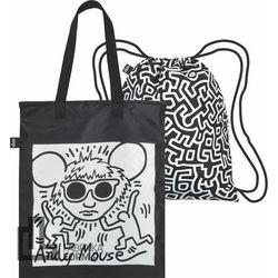 Torba i plecak 2w1 LOQI Museum Keith Haring Andy Mouse