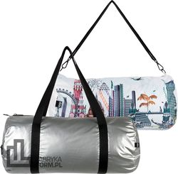Torba LOQI Weekender dwustronna Kristjana S Williams Interiors Silver & London