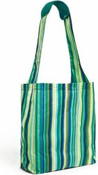 Torba na zakupy Reusable Shopper Emerald Stripe